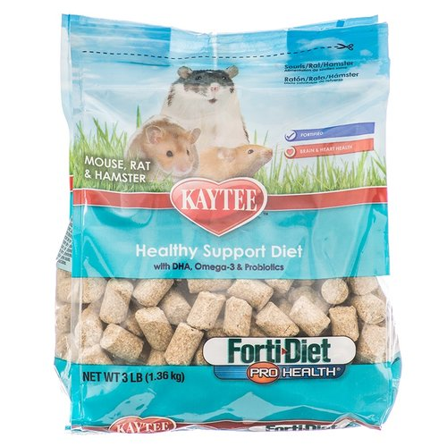 Kaytee Forti-Diet Kaytee Forti Diet Pro Health Healthy Support Diet - Mouse, Rat and Hamster Food BULK - 18 Pounds - (6 x 3 Pounds)