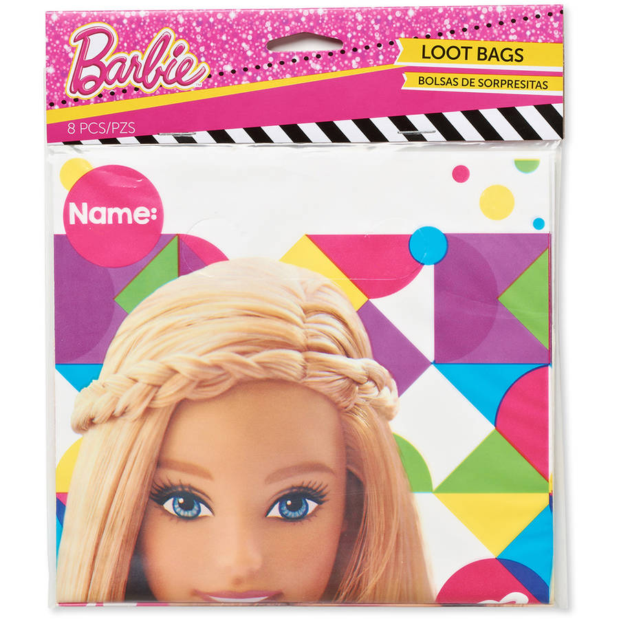 Barbie Treat Bags, 8 Count, Party Supplies