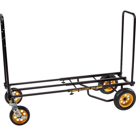 MULTI-CART Cart-RT12 8-Way Convertible Cart, 41-1/2 In H, Black