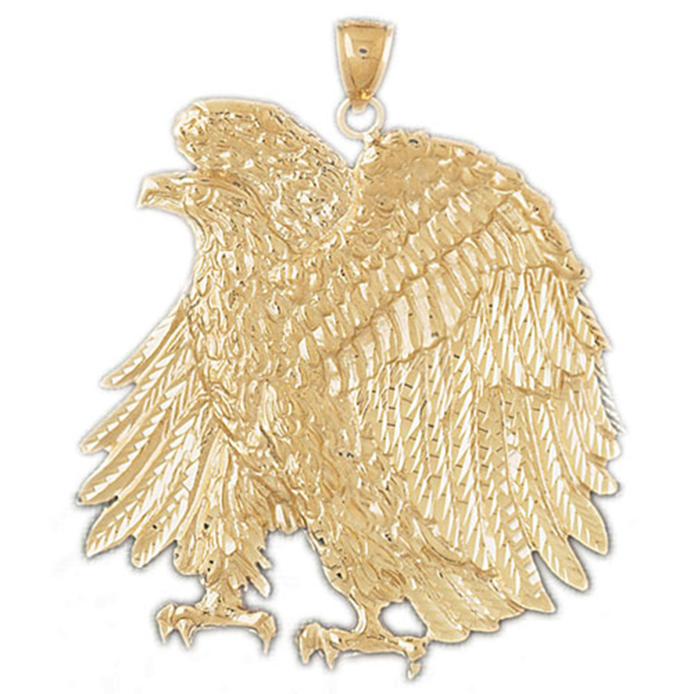 21 mm 14K Yellow Gold Eagle Pendant Jewels Obsession Eagle Pendant