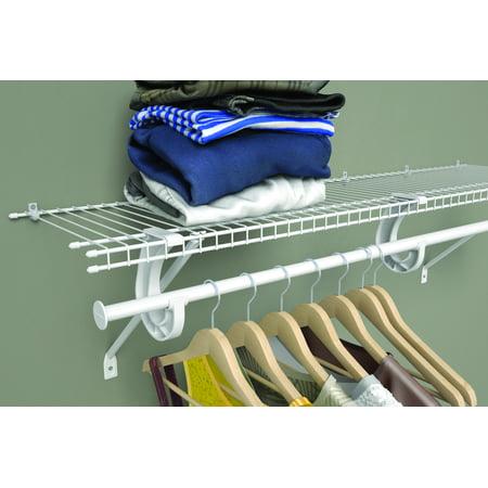 Closetmaid 4 6 Ft Adjustable Wire Closet Rod Kit Walmart Com