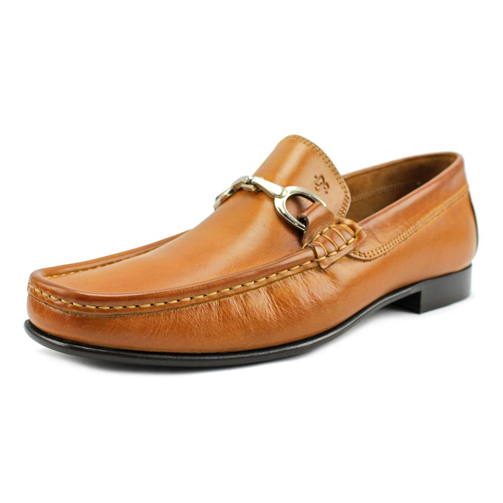Donald J Pliner Darrin-K Men Round Toe Leather Brown Loafer by Donald J Pliner