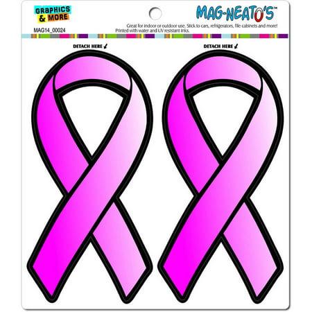 - Pink Ribbon Breast Cancer Awareness Find A Cure Automotive Car Refrigerator Locker Vinyl Magnet Set