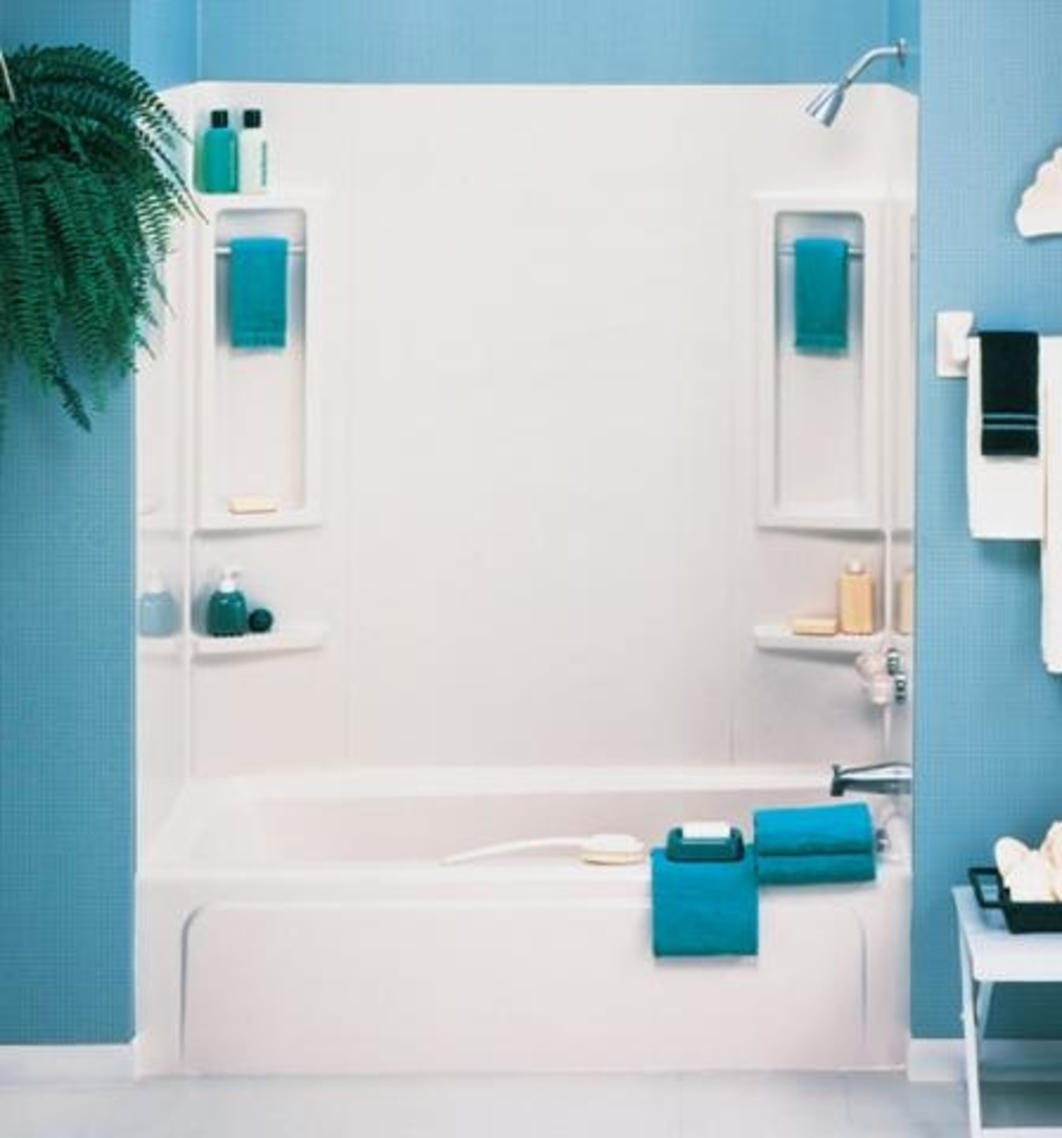ASB 39240 5-Piece White Vantage Tub Wall
