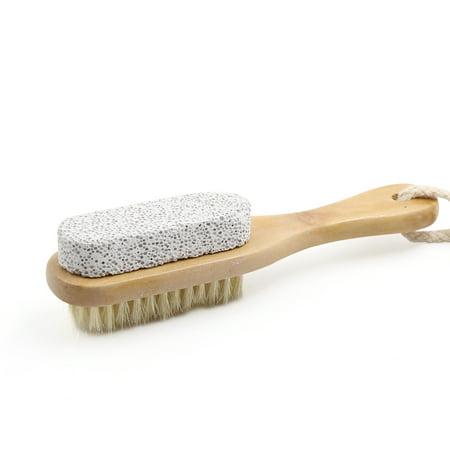 - Pumice Bristle Foot Pedicure Dry Hard Dead Skin Exfoliate Brush Scrubber