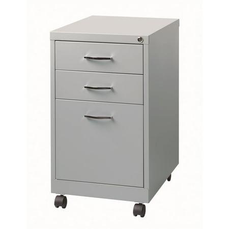Scranton & Co 3 Drawer Filing Cabinet in Platinum (Platinum Lcd Cart)