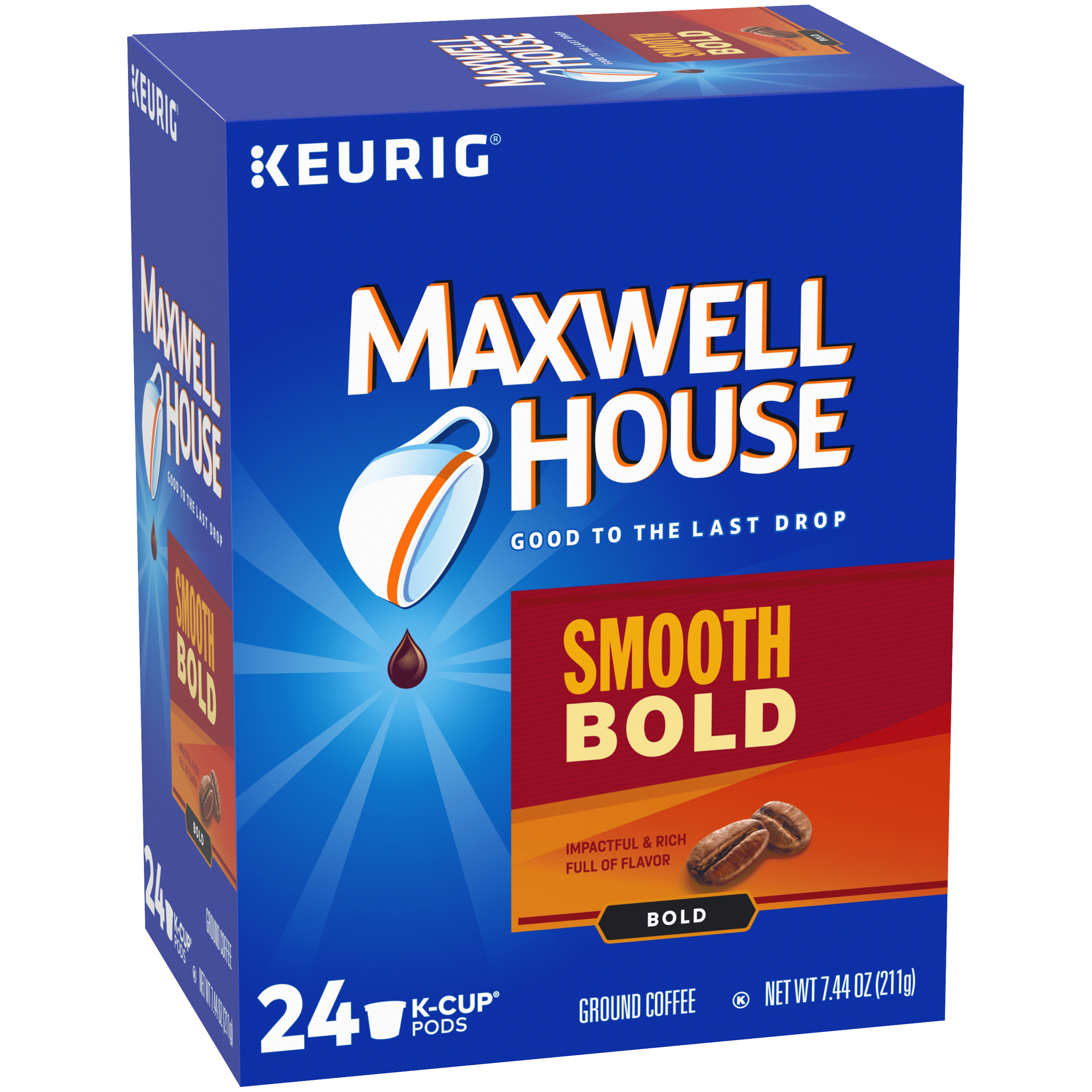 Maxwell House Smooth Bold Coffee K-Cup Pods 24 count Box