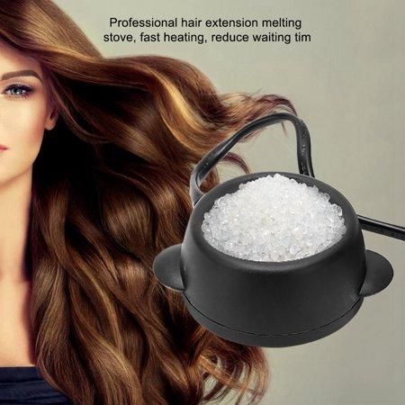 Image of FAGINEY Glue Stove,Mini Constant Temperature Hot Pot Hair Extension Glue Melting Pot Wig Glue Melting Stove , Hot Glue Melting Pot