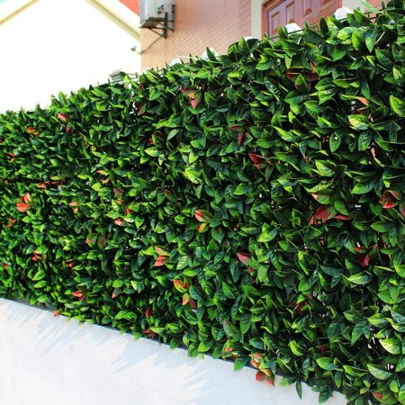 sunwing 6 piece artificial european laurel hedge fence greenery
