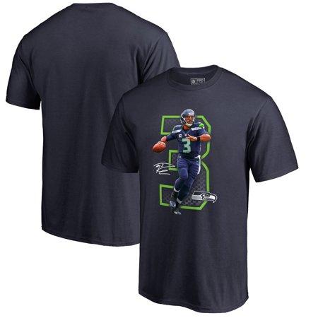 Russell Wilson  Seattle Seahawks NFL Pro Line by Fanatics Branded Powerhouse T-Shirt - Navy Seattle Seahawks Grilling