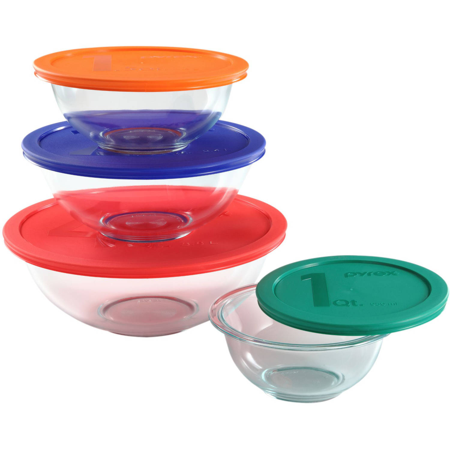 Pyrex 8 Piece Smart Essentials Mixing Bowl Set   Walmart.com