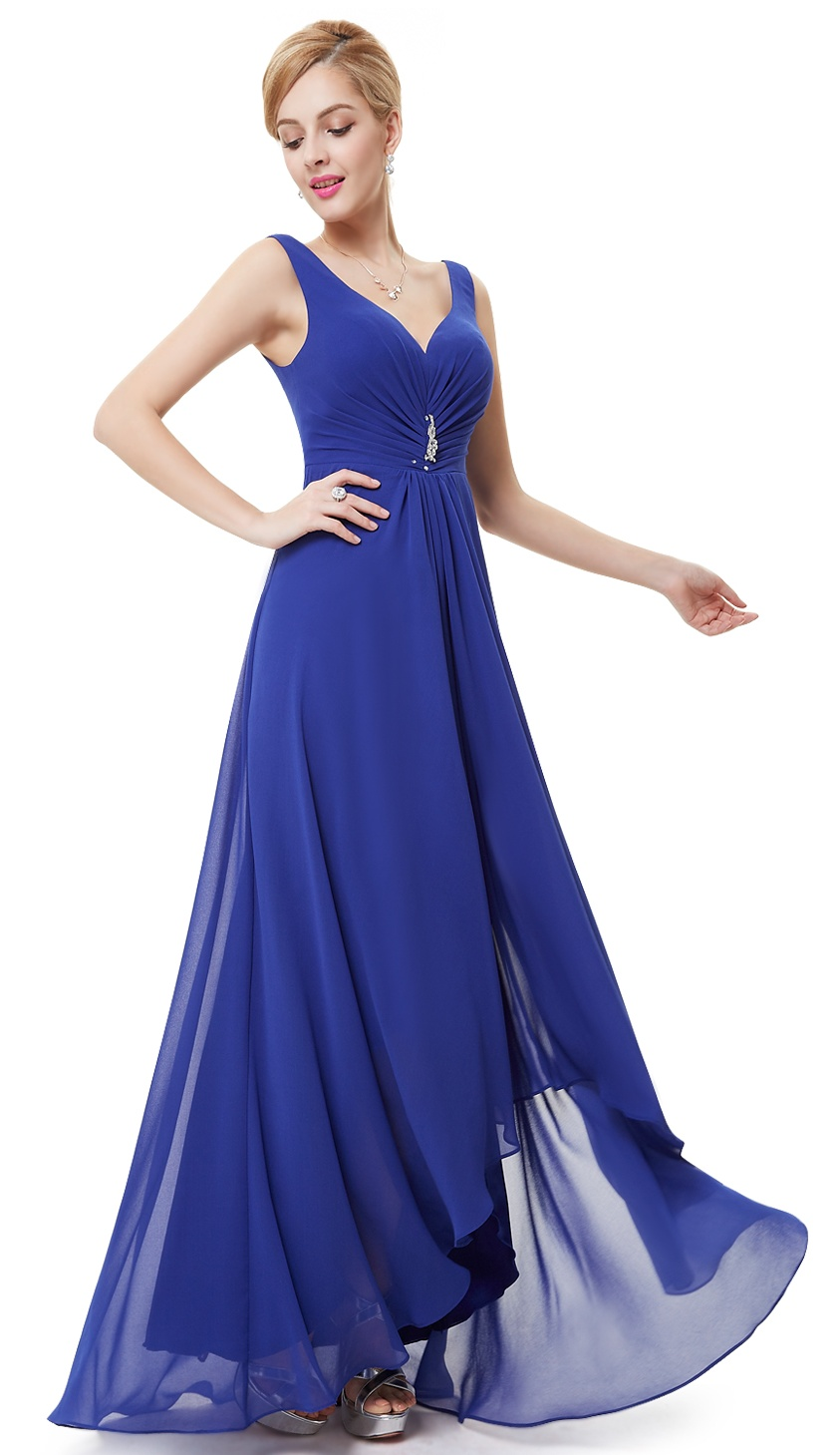 b7cb1fb6b23 Ever-pretty - Ever-Pretty Womens Classic Full-Length High Low Ruches Bust  Black Tie Summer Beach Wedding Bridal Shower Party Dresses for Women 09983  Purple ...