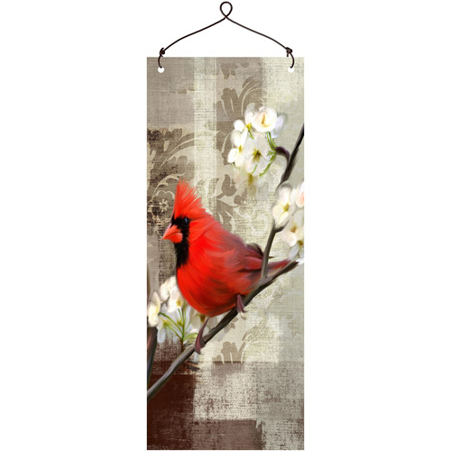 """Fall Red Bird"" Wall Plaque by"