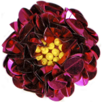"Expo Int'l 2"" Twisted Sequin Flower Applique"