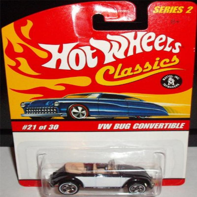 Hot Wheels Classics Series 2 VW Bug Convertible Black/Whi...