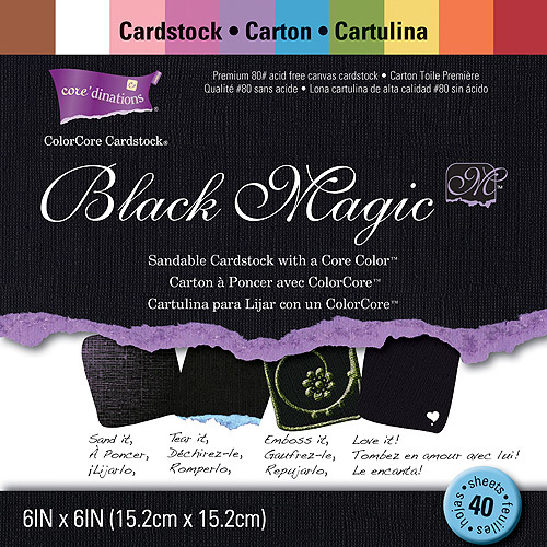 "Core'dinations Black Magic Cardstock pack, 6"" x 6"""