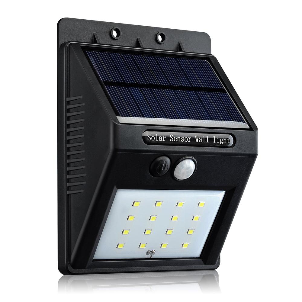 VicTsing 16 LED Solar Panel Powered Motion Sensor Lamp Outdoor Light Garden Security Light 320lm