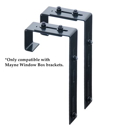 Mayne Adjustable Deck Rail Bracket 2 Pack