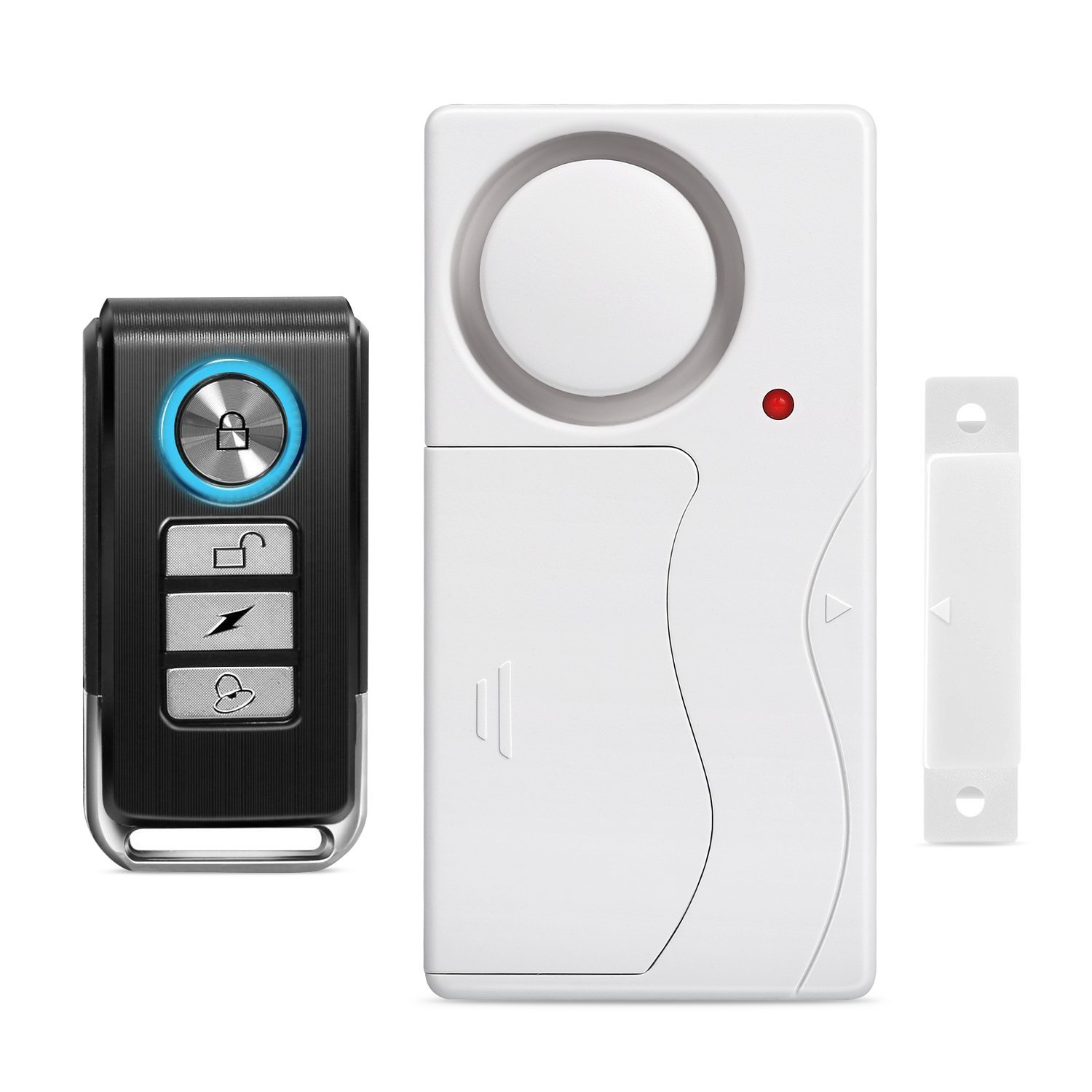 GREENCYCLE 1 Set (1 Remote,1 Alarm) Multi-function Wireless Anti-Theft Remote Control Burglar Alert Door Window Security Alarms Emergency Doorbell Magnetic Sensor Chime Alarm