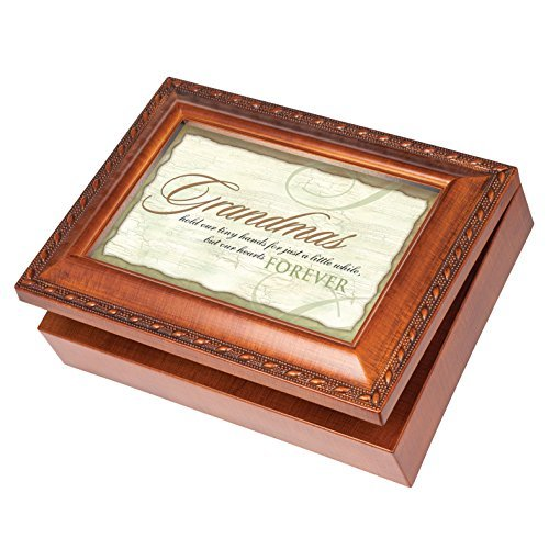 Grandmas Forever Wood Finish Jewelry Music Box Plays Tune You Are My Sunshine by