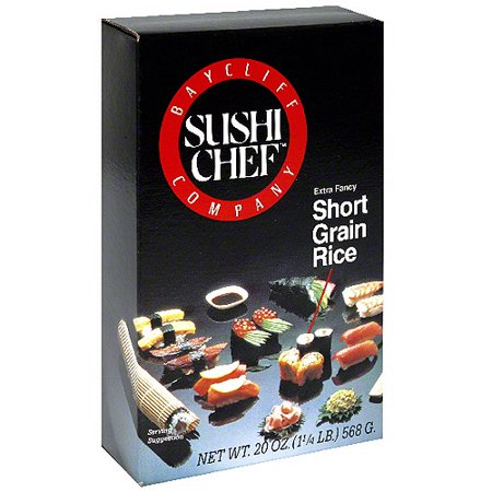 Sushi Chef Short Grain Rice, 20 oz (Pack of 6)