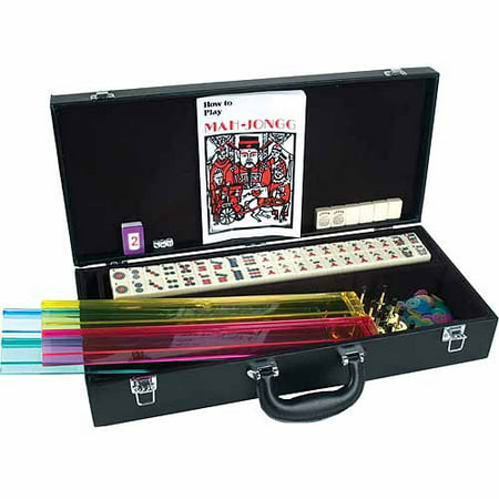 CHH Western Mah Jong Set in Black Leatherette Case