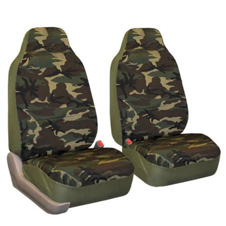 FH Group Camouflage Airbag Compatible Front Bucket Seat