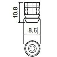 Blum 70.0532 Blumotion Dowel For 8Mm Hole Wi
