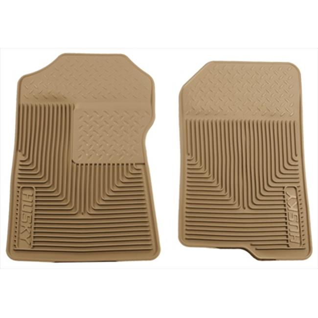 Heavy Duty Thermoplastic Elastomer Tan Front Floor Mats
