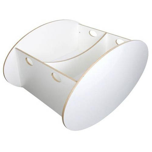 Babyhome So-Ro Twin Cradle, White by Babyhome