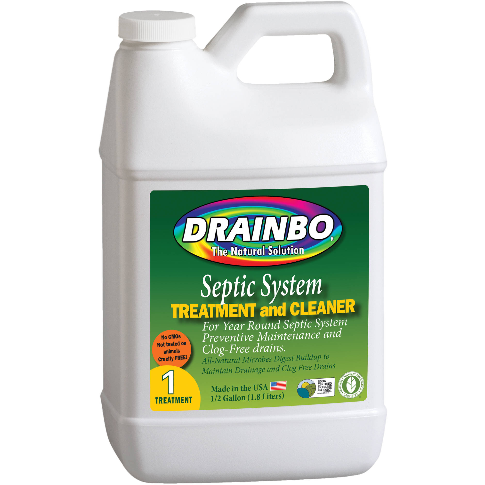 Drainbo Septic System Treatment and Cleaner, 0.5-Gallon