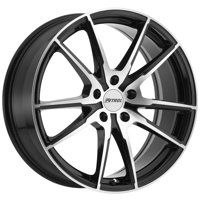 Petrol P0A 17x8 5x108 +40mm Black/Machined Wheel Rim