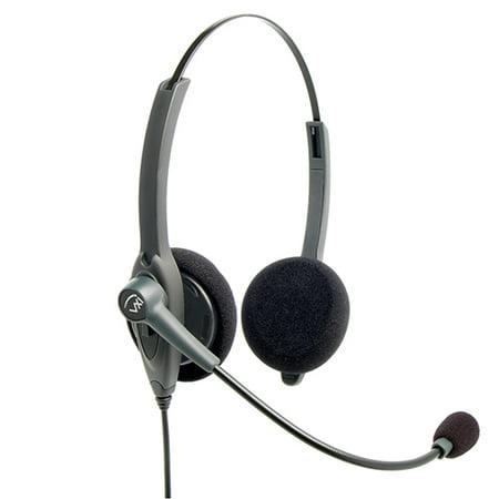 Binaural Overhead Cord - VXI 202780 Passport 21P-DC Binaural Single-Wire Headset