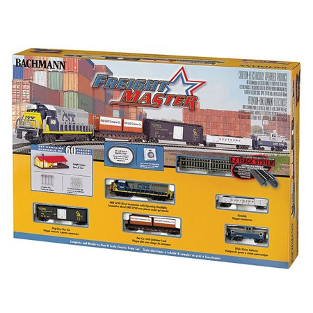 Bachmann Model Railroad - Bachmann Trains Freightmaster N Scale Ready-to-Run Electric Train Set