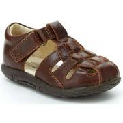 Stride Rite Boys Harper Brown Toddler Leather Sandals