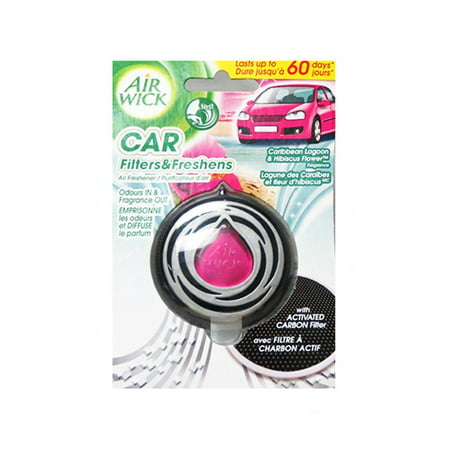 Air Wick Car Air Freshener Caribbean Lagoon And Hibiscus Flower Scent (3ml) - image 1 of 1