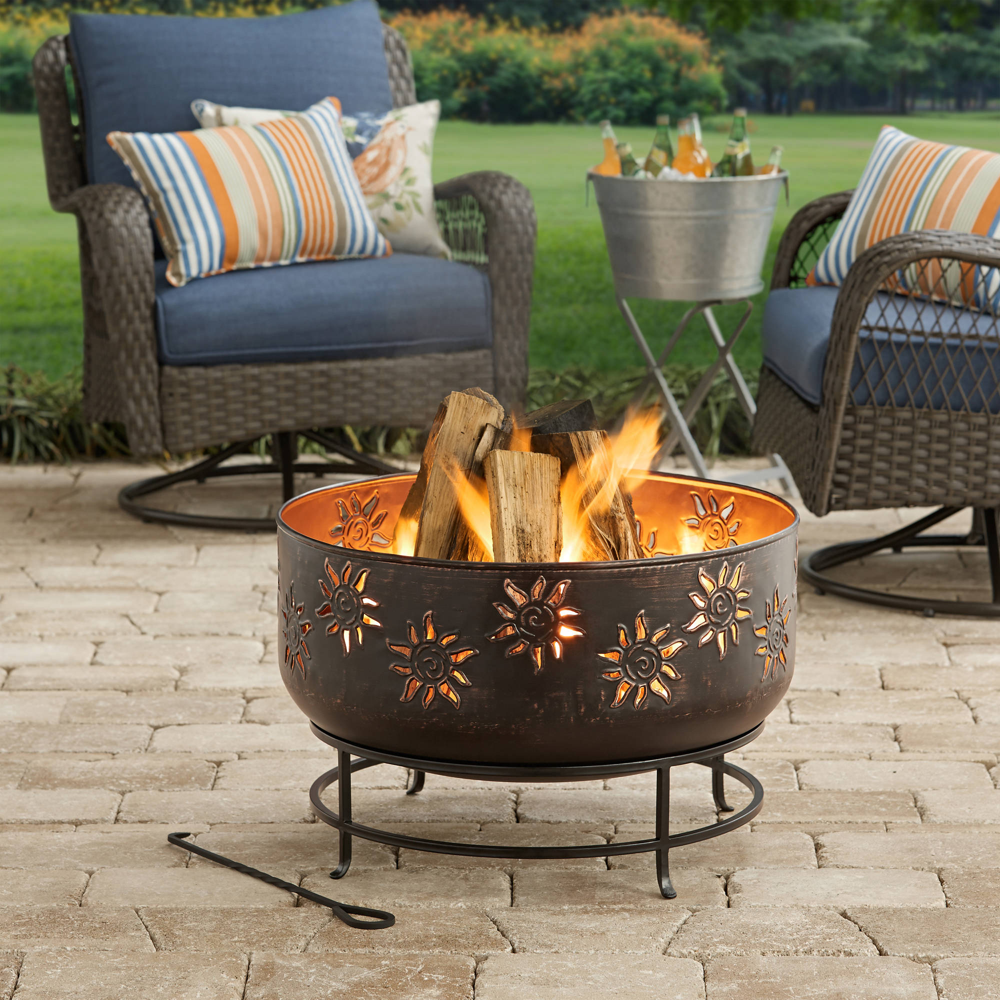 Better Homes and Gardens Sunburst Wood-Burning Fire Pit