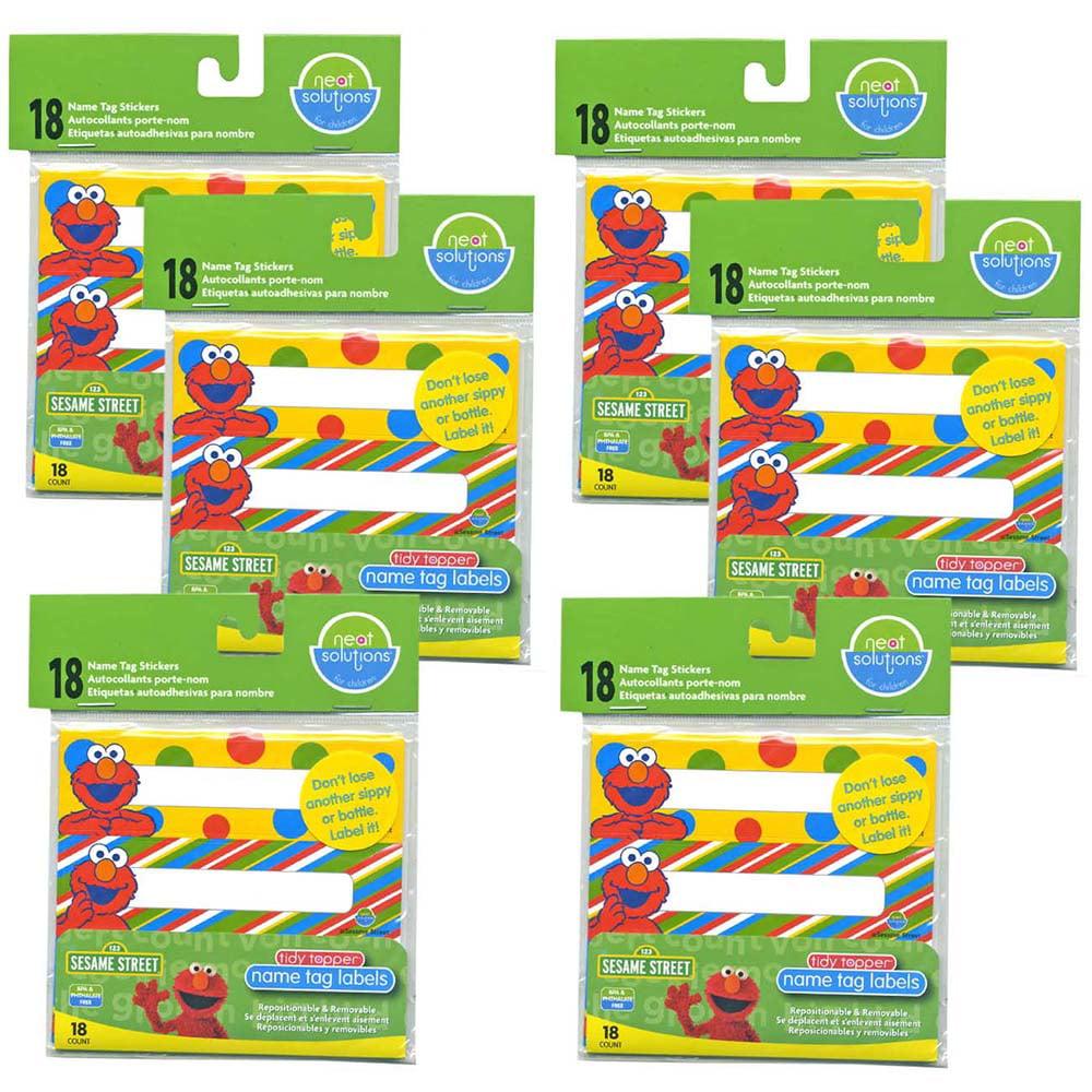 Neat Solutions Cup Label Stickers, Sesame Street, 108 Ct 006TJC89HI5CRLF