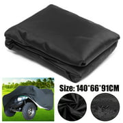 """Black Waterproof Riding Lawn Mower Tractor Storage Cover Protecter Outdoor 55.1x26.0x35.8"""" 190D polyester taffeta"""