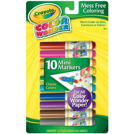 Crayola Color Wonder 10 Mini Markers Classic Colors](Crayola Wonder Markers)