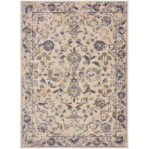 Karastan Cosmopolitan Nolita Cream Gold Area Rug by Mohwak Home