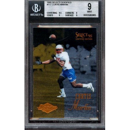 1995 Select Certified  117 Curtis Martin Patriots Rookie Card Bgs 9  9 5 9 9 9