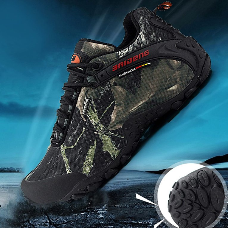 Outdoor Waterproof Lace-up Hiking Boots Sports Men's Anti-slip Climbing Shoes