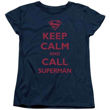 Trevco SUPERMAN CALL SUPERMAN Navy Adult Female (2 Navy Patrol Bomber)