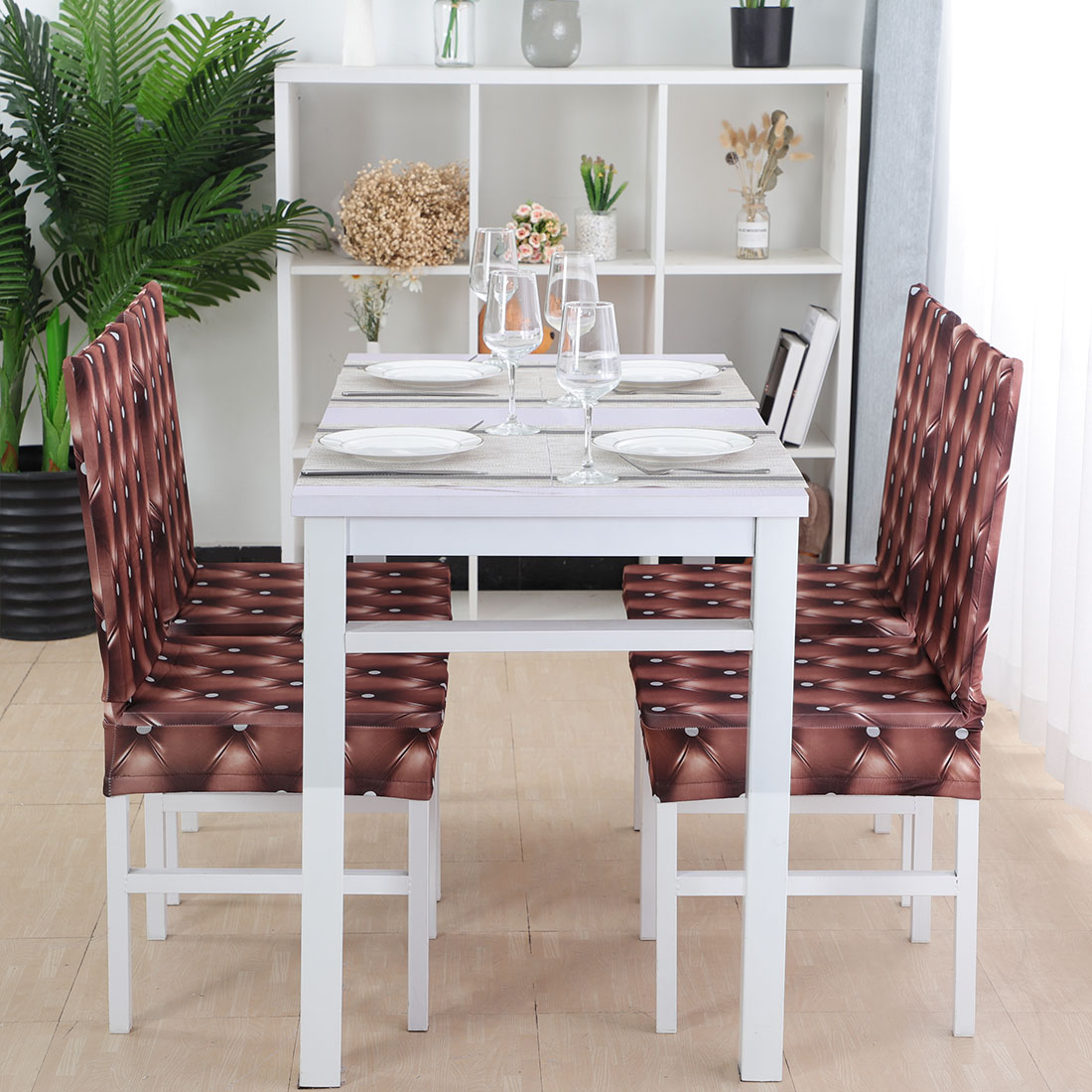 Stretchy Kitchen Dining Chair Cover Restaurant Wedding Part Decor Set of 4