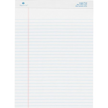 Sparco Microperforated Writing Pads - 50 Sheets - 0.34