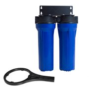 """Two Stage Filtration System Blue 2.5in x 10in 3/4"""" NPT  Water Filter Whole House"""