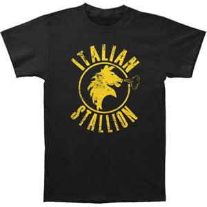 Water Stallion T-shirt - Rocky Men's  Italian Stallion Slim Fit T-shirt Black
