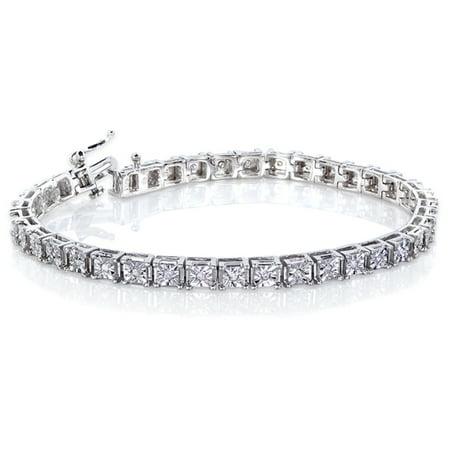 Diamond Bracelet 1/2 Carat (ctw) in Silver
