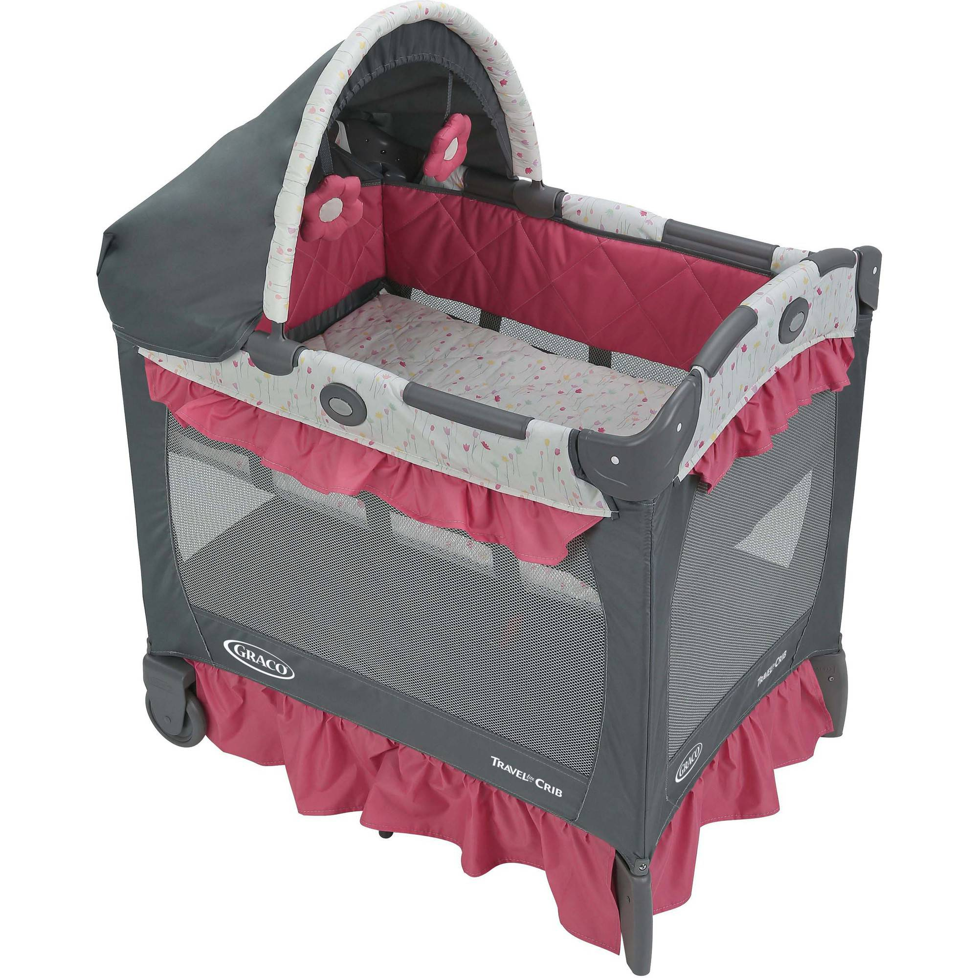 Graco Pack 'n Play Travel Lite Crib, Portable Baby Playard Crib, Alma